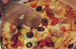 ピザ、切り取り