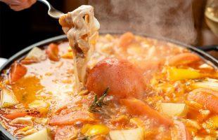 完熟トマトとモッツアレラチーズのミネストローネしゃぶしゃぶ